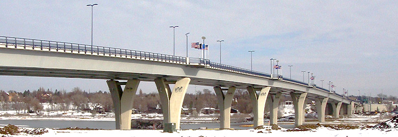 Veterans Memorial Bridge over the Missouri River