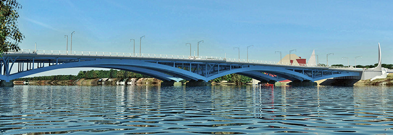 Ken Burns Bridge over Lake Quinsigamond